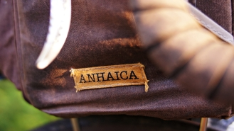 Anhaica logo on rando bag