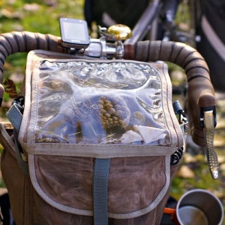 Bike pine cone collector