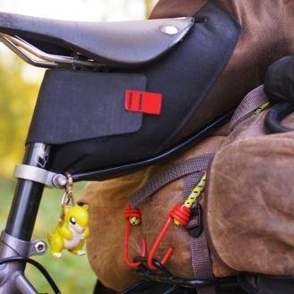 Bike seatpost close up