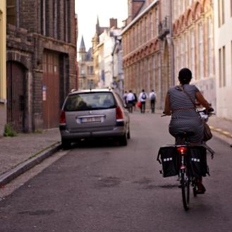 ghent biking family