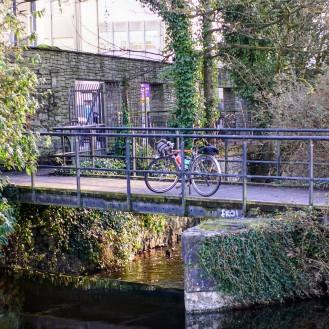 Ireland Galway Bike on Bridge