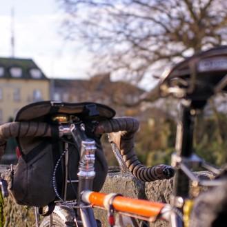 Ireland Galway Bike rear portrait