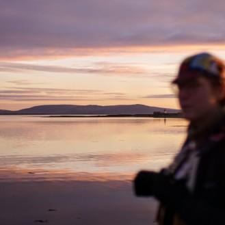 Ireland Galway Grey portrait sunset