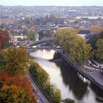 Namur skyline city