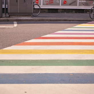 rainbow crosswalk in antwerp